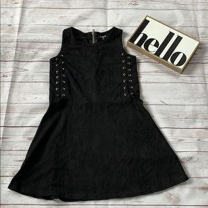 Girls black laces dress size medium, 10